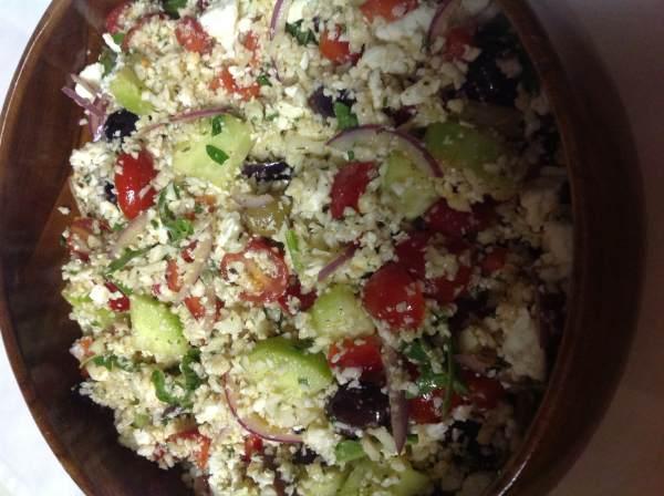 Cauliflower Couscous Greek Salad