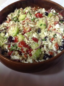 Cauliflower Couscous Greek Salad