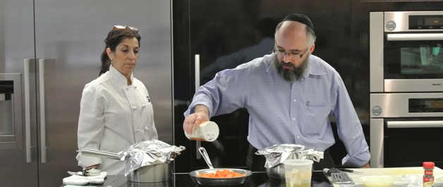 Rabbi Goldenberg with Mrs. G's Appliance Chef Mary Beth