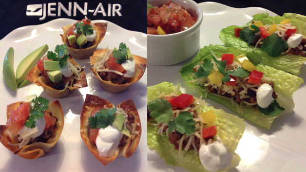 Bite-Size Super Bowl: Mini Taco Cups {With Gluten Free, Vegetarian Option}