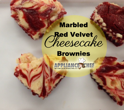 Marbled Red Velvet Cheesecake Brownies | Mrs. G's Appliance Chef
