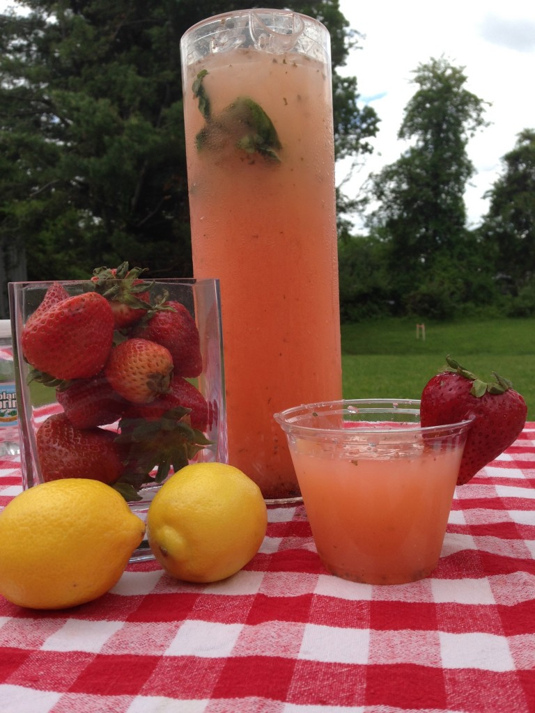 Strawberry Basil Lemonade | Mrs. G's Appliance Chef