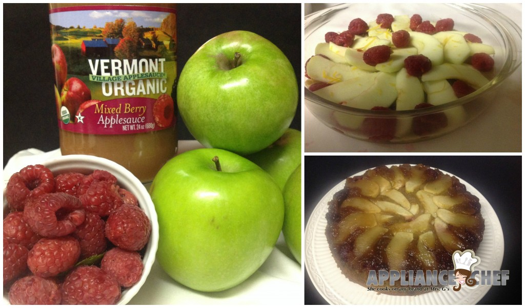 National Applesauce Cake Day UPSIDE DOWN RASPBERRY  APPLESAUCE CAKE | Mrs G's Appliance Chef