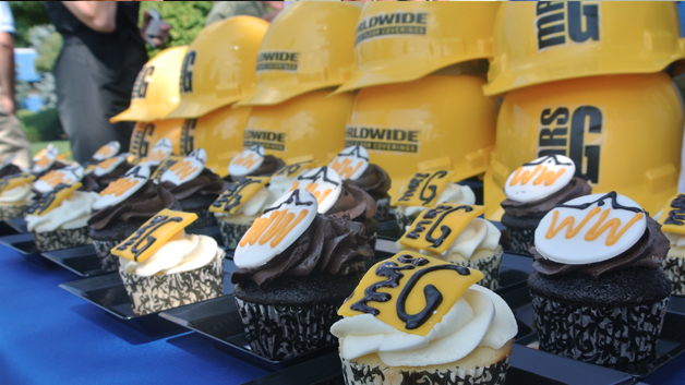 Lemon and Chocolate Branded Cupcakes for Mrs. G's Groundbreaking Ceremony