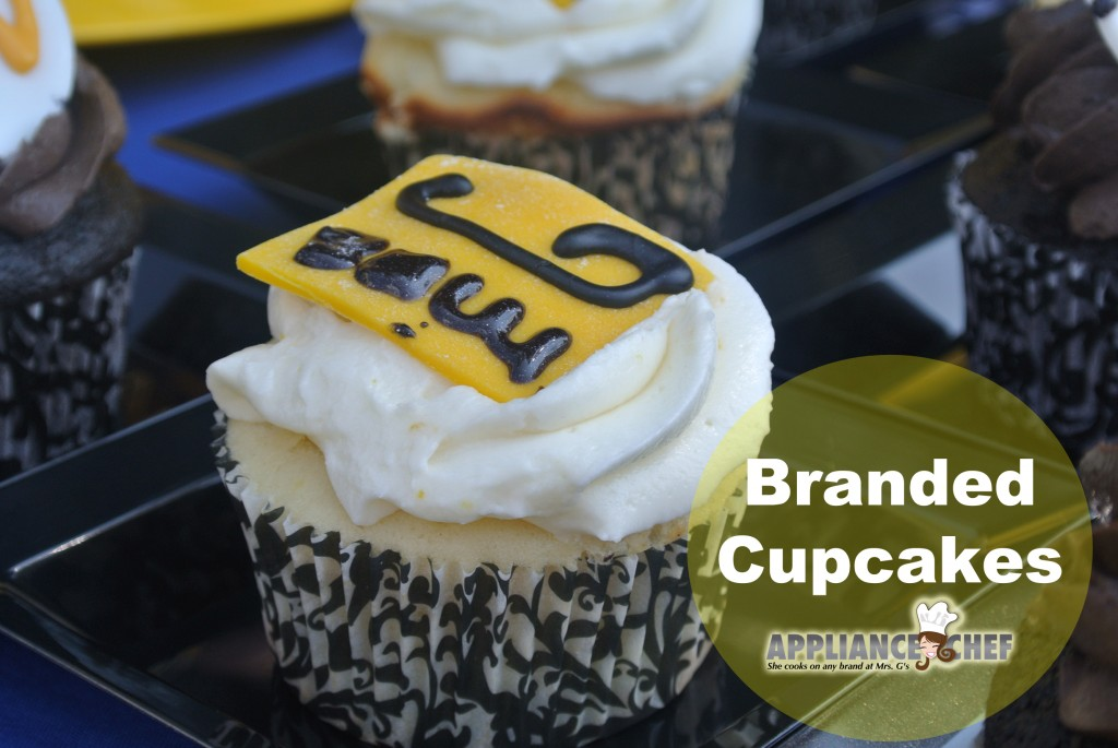 Lemon and Chocolate Branded Cupcakes | Mrs. G's Appliance Chef Blog