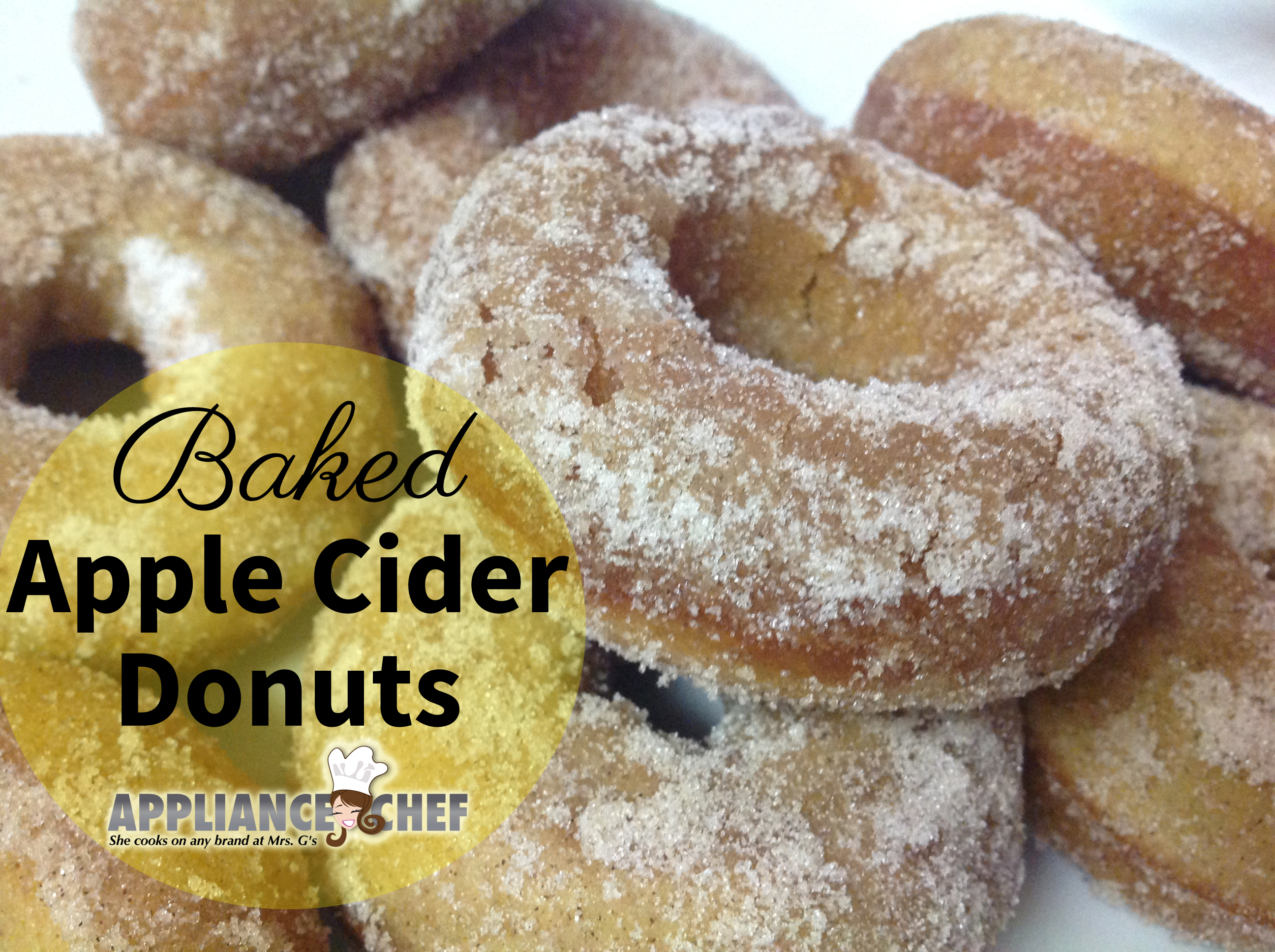 Baked Apple Cider Donuts with Terhune Orchards Apple Cider | Mrs. G's ...
