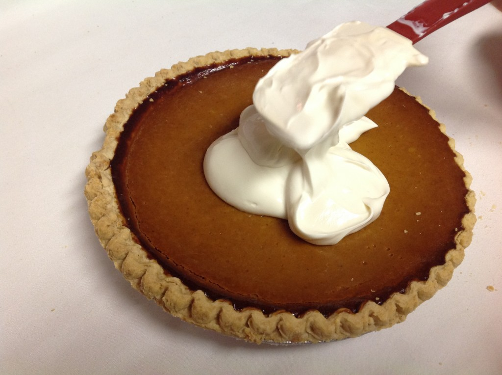 Store-Bought Pie Makeovers: Sour Cream Topped Pumpkin Pie   Mrs. G's Appliance Chef