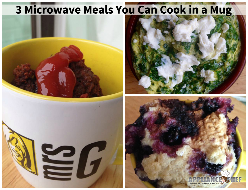 3 Microwave Meals You Can Cook in a Mug | Mrs. G's Appliance Chef