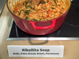 Ribollita Soup on a Jenn-Air induction cook top.